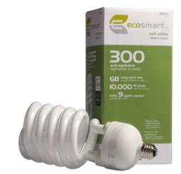 EcoSmart 300W CFL Bulb